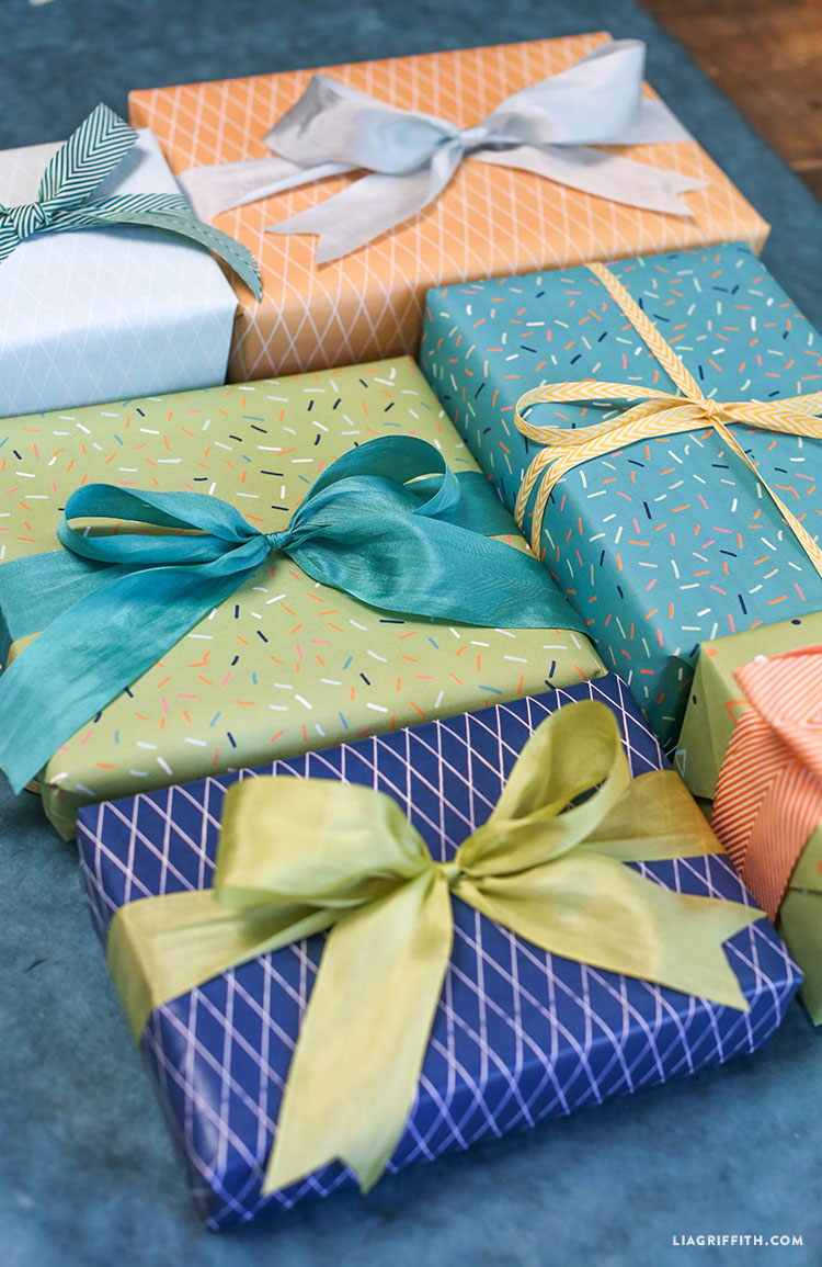Summer Gift Wrap In Blue Palette Lia Griffith