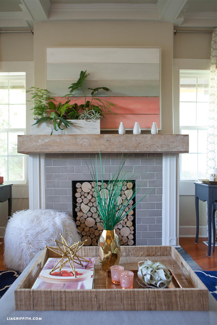 Coral Living Room Update for Summer - Lia Griffith