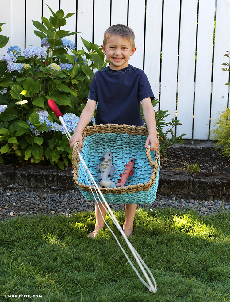 Toy fishing rods for kid 39 s game lia griffith for Fishing rods for kids