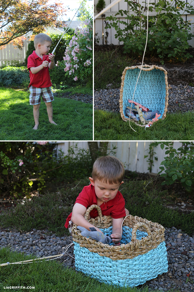 Toy fishing rods for kid 39 s game lia griffith for Toddler fishing game free