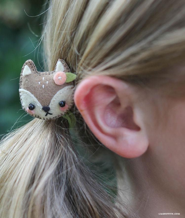 Mini Felt Animal Hair Accessories Lia Griffith