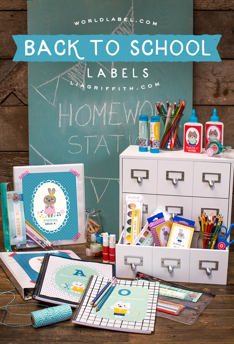 Back to school labels lia griffith for School blueprint maker