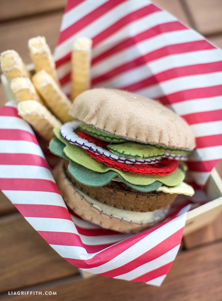 Felt Food Toys R Us : Felt play food burger lia griffith
