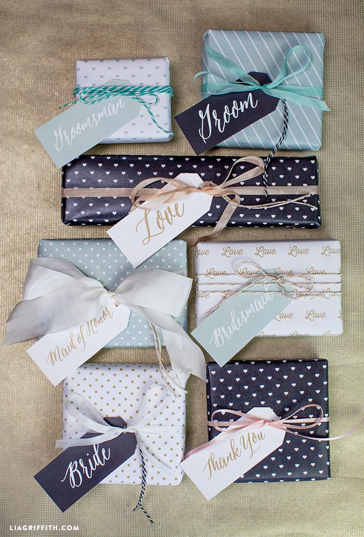 Printable Wedding Gift Tags - Lia Griffith