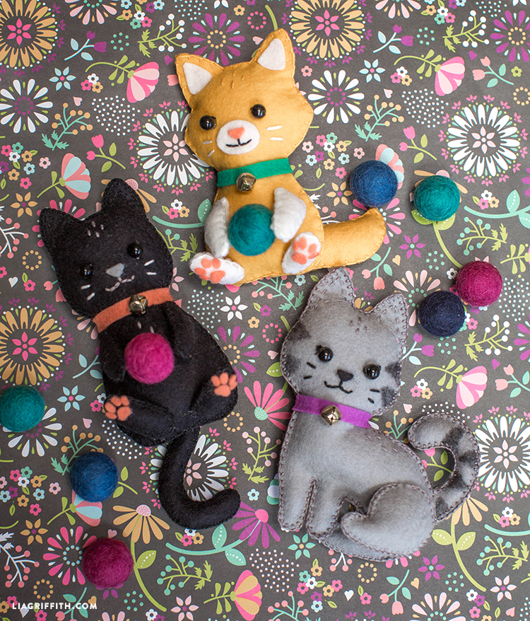 diy felt craft kittens lia griffith