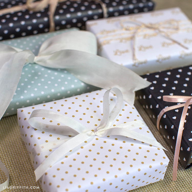 Parisian Style Wedding Wrapping PaperLia Griffith