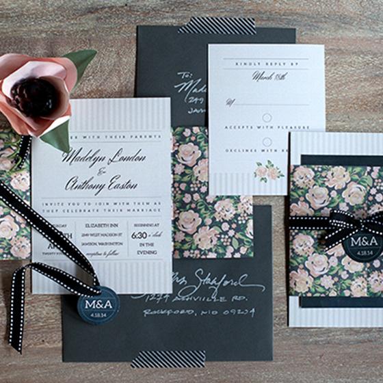 Printable Wedding Invitation Sets: DIY Vintage Wedding Invitation Set