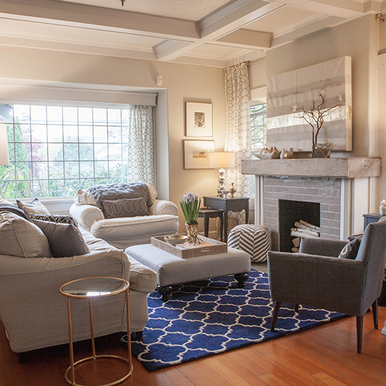My Home Tour: My Living Room in Navy and Gold - Lia Griffith