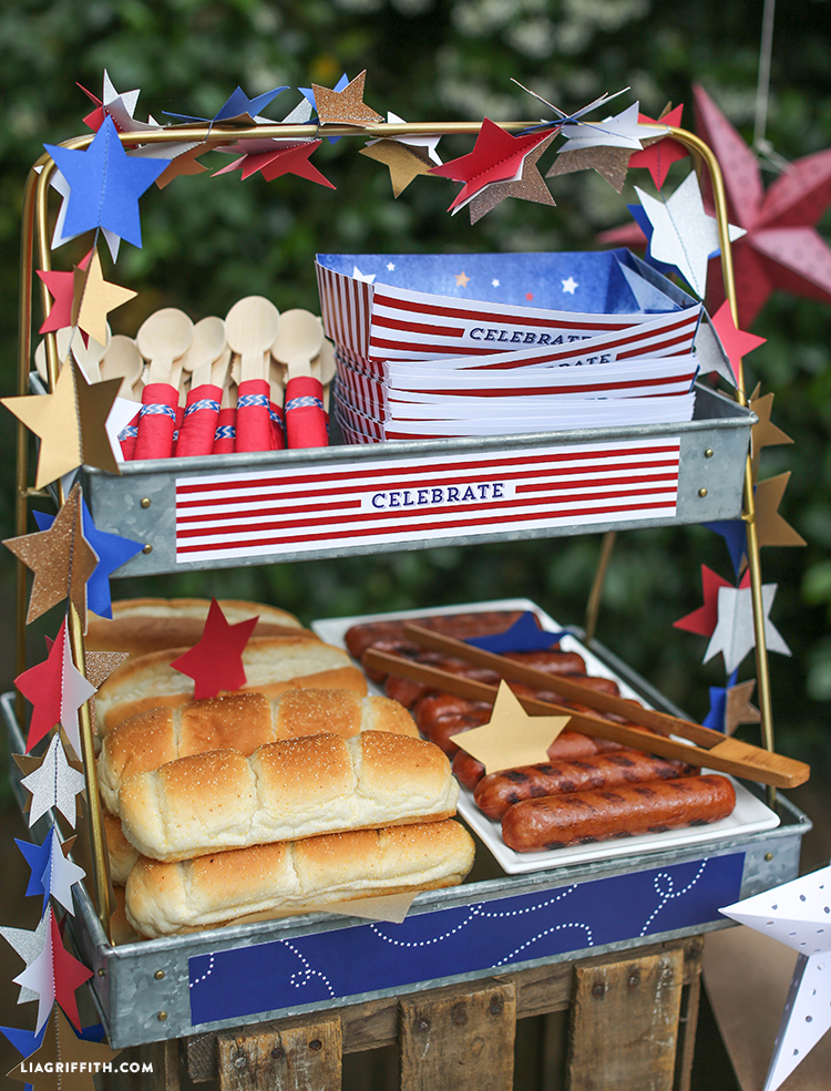 Hot Dog Bar For 4th Of July Lia Griffith