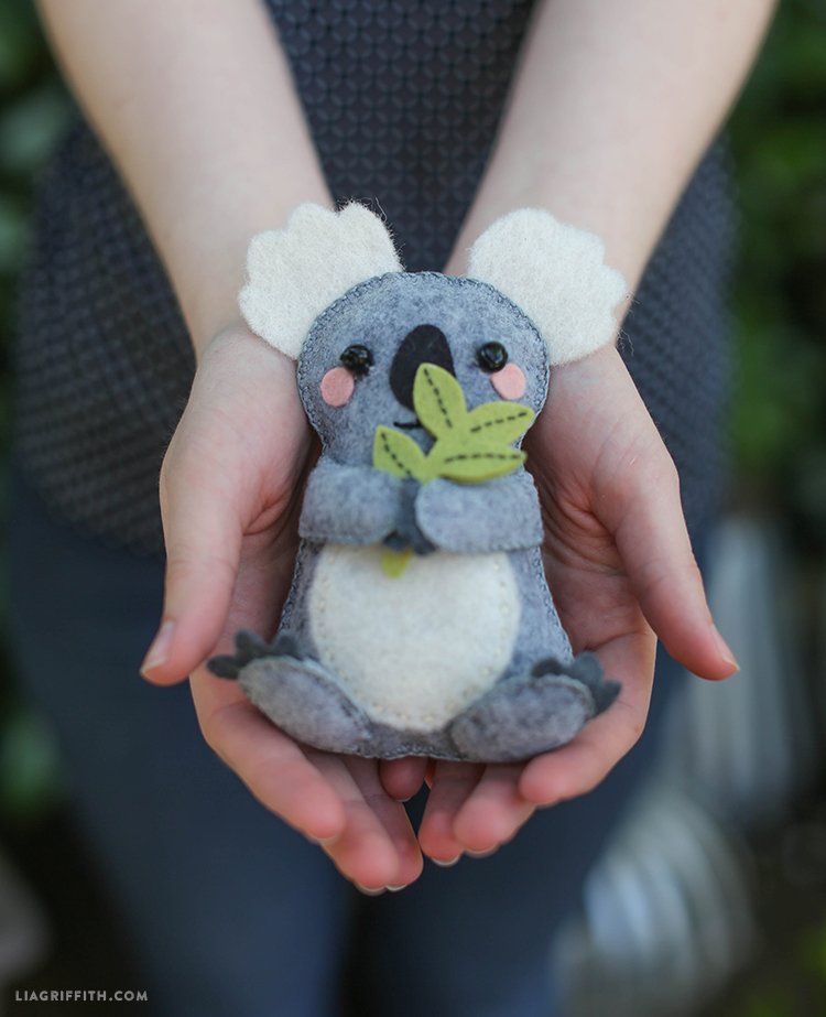 DIY Felt Koala Stuffie Tutorial