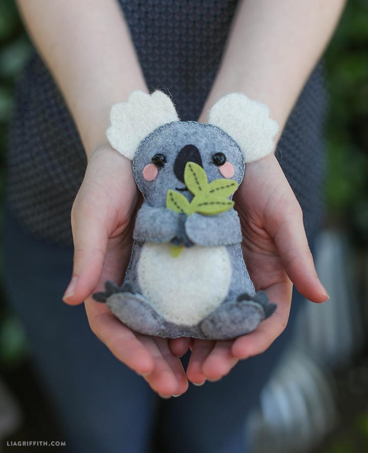diy felt koala stuffie lia griffith. Black Bedroom Furniture Sets. Home Design Ideas
