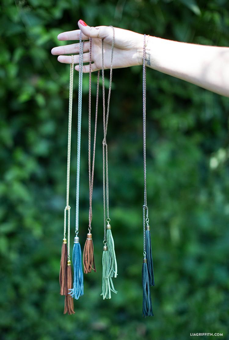 diy tassel necklaces lia griffith. Black Bedroom Furniture Sets. Home Design Ideas