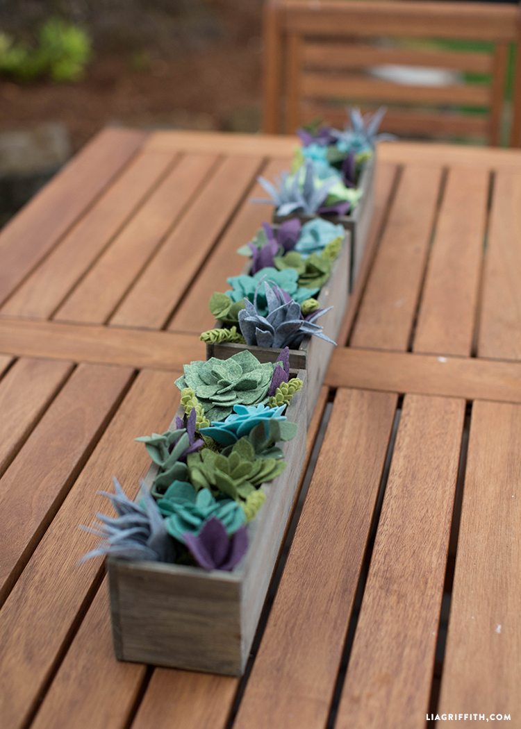Felt Succulent Vertical Garden Lia Griffith