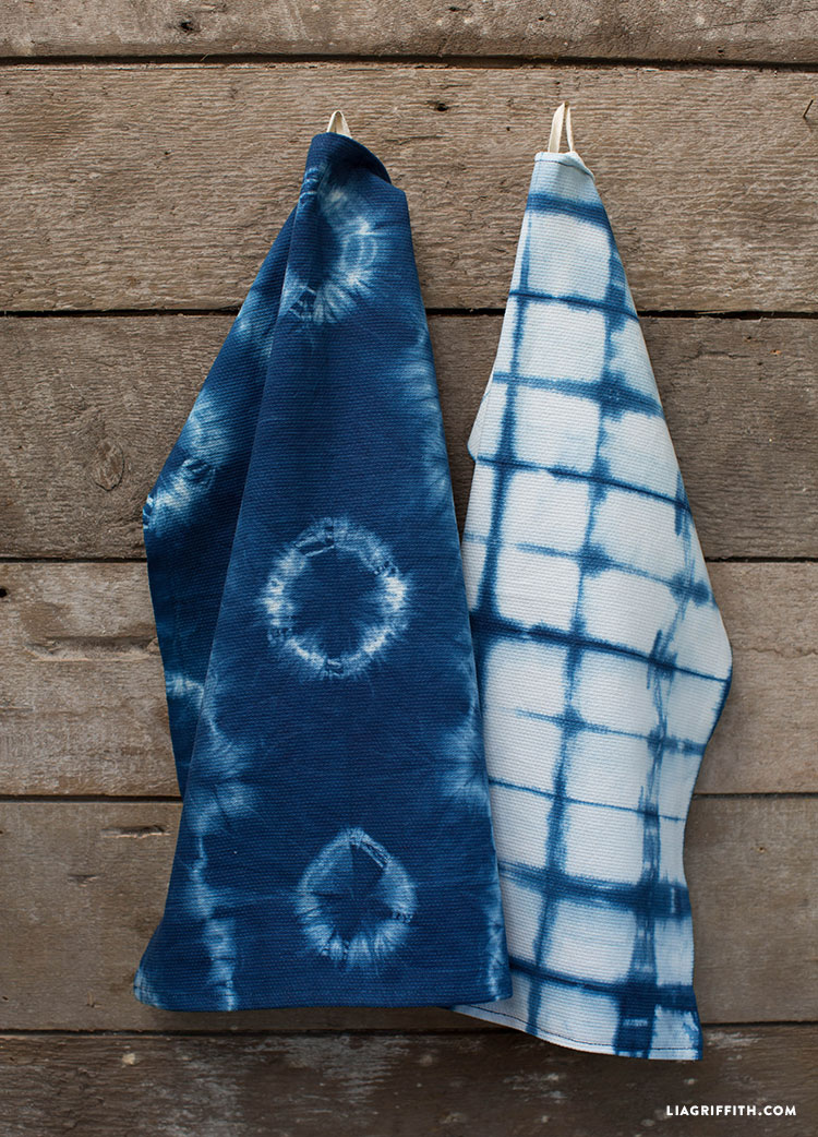 Diy Indigo Dye Tea Towels Lia Griffith