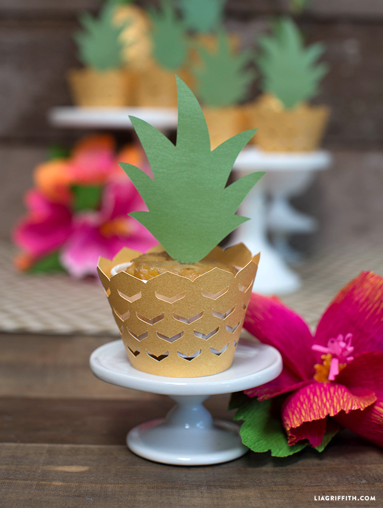 Pineapple Cupcake Decorations Lia Griffith