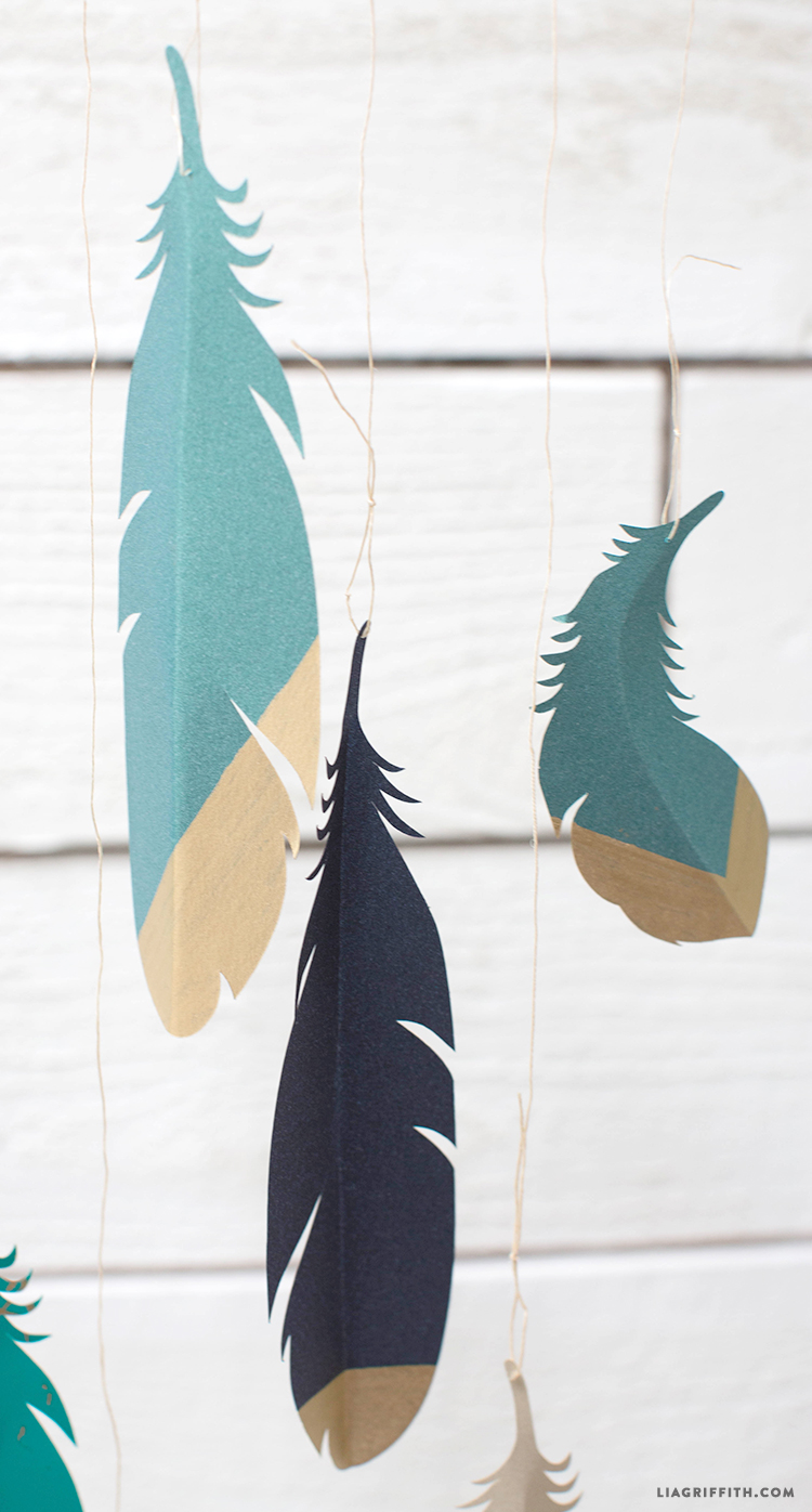 Paper Feather Wall Hanging Lia Griffith