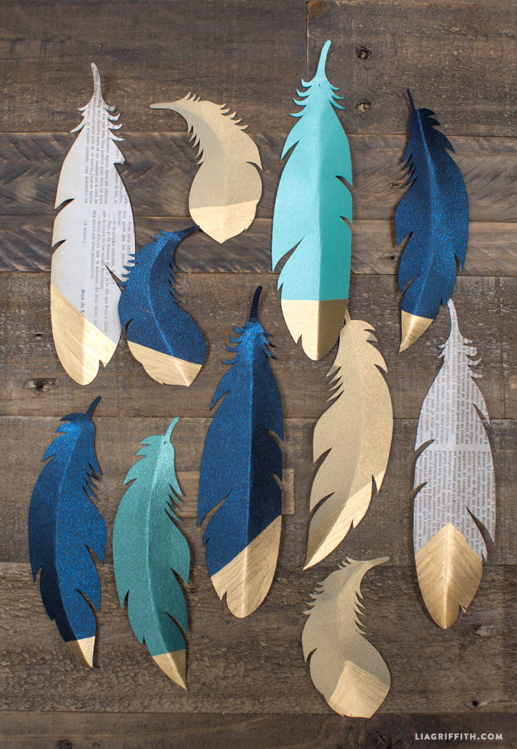 craft with feathers ideas gold tipped paper feathers lia griffith 4098